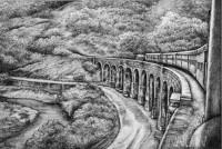 Fine art  - Sengottai Bridgeby Artist