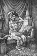 Fine art  - Lady In The Dressing Room by Artist