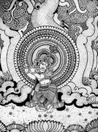 Fine art  - Krishna Playing Flute 4
