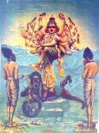 Fine art  - Lord Shiva Saves Markandeya