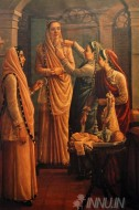 Fine art  - Decking the Bride by ArtistRaja Ravi Varma