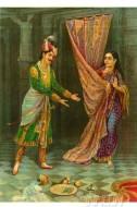 Fine art  - Woman Rejecting Marriage Proposal by ArtistRaja Ravi Varma