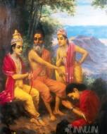 Fine art  - Vishwamitra & Rama by ArtistRaja Ravi Varma