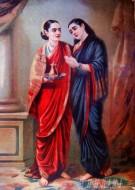 Fine art  - Draupadi & Sudheshna 1 by ArtistRaja Ravi Varma