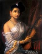 Fine art  - Lady With Violin by ArtistRaja Ravi Varma