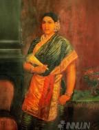 Fine art  - South Indian Lady by ArtistRaja Ravi Varma