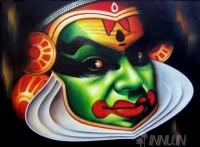 Fine art  - Kathakali Face 1