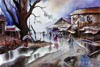 Fine art  - A Village