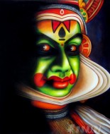 Fine art  - Kathakali Face 3