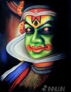 Fine art  - Kathakali Face 6