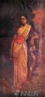 Fine art  - Indian Female Attire  by ArtistRaja Ravi Varma