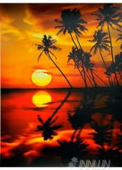 Fine art  - Sunset on River Side
