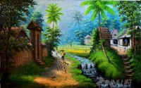 Fine art  - Village Life 1