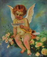 Fine art  - Angel by Artist Suresh Dev