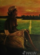 Fine art  - Farmer Lady by Artist Suresh Dev