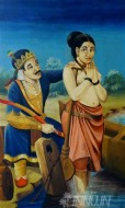 Fine art  - King Shantanu & Satyavati by Artist
