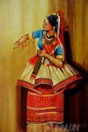 Fine art  - Manipuri Dance  by Artist