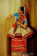 Fine art  - Manipuri Dance  by Artist