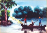 Fine art  - Fishing  by Artist