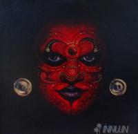 Fine art  - Dark Theyyam by ArtistBinu Perukavu