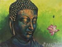 Fine art  - Buddha by ArtistBinu Perukavu
