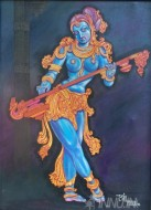 Fine art  - Rudhraveenaby ArtistBinu Perukavu