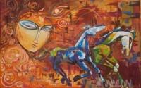 Fine art  - Kurukshetra  by ArtistBinu Perukavu