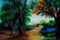 Fine art  - A Village  by Artist