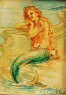 Fine art  - Mermaid by Artist Binu Perukavu