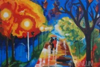 Fine art  - Love in the Woods by Artist Pooja Kashyap