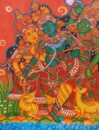 Fine art  - Radha-Krishna-Gopikaby ArtistPooja Kashyap