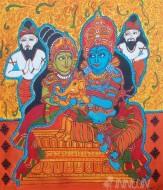 Fine art  - Ganesh Parvathy Shiva by ArtistPooja Kashyap
