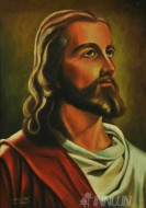 Fine art  - Christ by Artist Suresh Dev