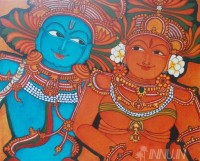 Fine art  - Radha Krishna by ArtistPooja Kashyap