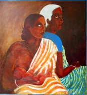 Fine art  - Three Generations by Artist Usha Ramachandran