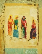 Fine art  - Four Women by Artist Babitha Marina Justin