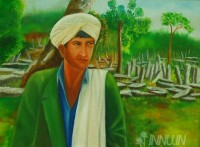 Fine art  - The Pator of Nartiang  by Artist Babitha Marina Justin