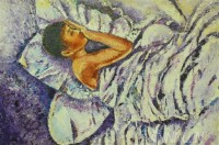 Fine art  - Sleeping Purple by Artist Babitha Marina Justin