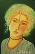 Fine art  - Yezidi Girl by ArtistBabitha Marina Justin