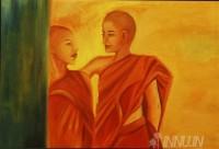 Fine art  - Buddhist Boysby ArtistBabitha Marina Justin