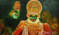 Fine art  - Krishna and Arjuna by ArtistBabitha Marina Justin