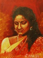 Fine art  - Self Portrait by Artist Babitha Marina Justin