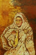 Fine art  - Self Portrait as Mother Mary by Artist Babitha Marina Justin