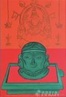 Fine art  - Mookambika - The Silent Goddess of Kollur by ArtistMurali T