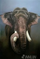 Fine art  - Elephant  by ArtistDinak Divakaran