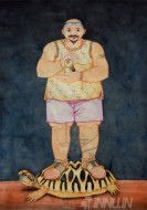 Fine art  - Men Should be Disturbed to Survive in this World by Artist Sajith Puthukkalavattom