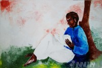Fine art  - Enchanting world of booksby ArtistUsha Ramachandran