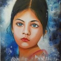Fine art  - Gritty Girlby ArtistAsha Suresh