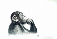 Fine art  - Monkey Mind by Artist Krishna Chandran
