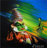 Fine art  - Kathakali 1 by Artist Satish Nair